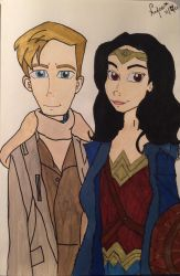 Princess Diana of Themyscria and her Captain Steve by Rukiaoceanspirit1