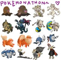 POKE'MONATHON 4: 036-065 by skeletonzoo