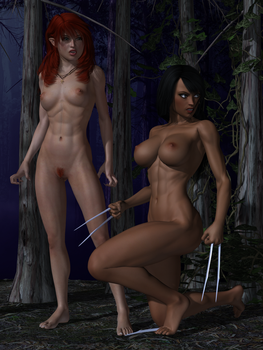 Feral X-Girls by Sailmaster-Seion
