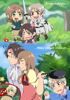 APH: The thing about friends.. by MewCherrii