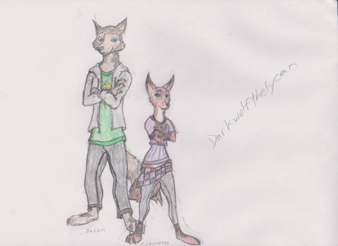 Jason and Claire: Zootopia Artstyle by Darkwolfthelycan