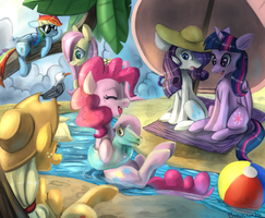Beach day by Bread-Crumbz