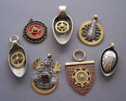 Clockpunk pendants 11 by Astalo