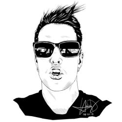 Dave Faber (Digital Ink Drawing) by HarkinDeximire