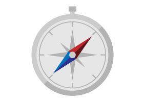 Flat Compass Icon by superawesomevectors
