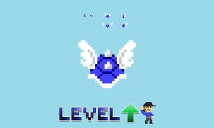 8 Bit Blue Shell Sprites - Level UP by LevelUpAnimations