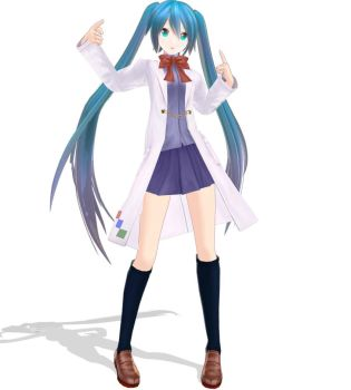 YYB Science girl Miku + DOWNLOAD by Gwenathan