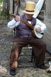 photo of Civil War era banjo playing re-enactor by Crigger