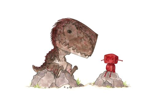 Rex and Red by morganobrienart