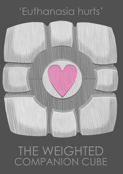 The Weighted Companion Cube by flyingnimbus
