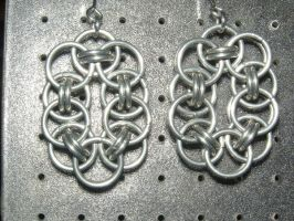 Chainmaille Earring 76 by Des804