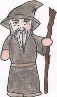 Gandalf Cartoon by deviant-rohain