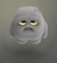 Zbrush Doodle: Day 1393 - Sad Cloud by UnexpectedToy