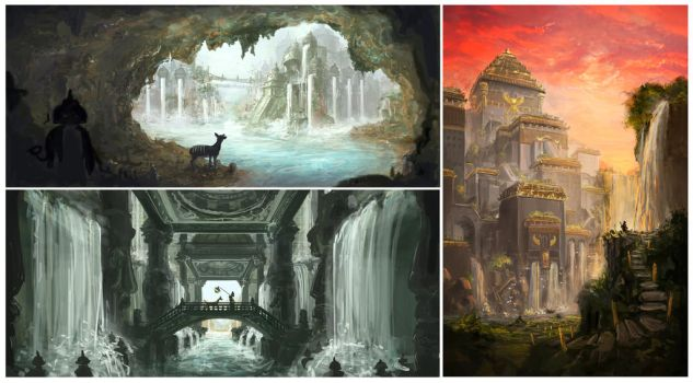 The Flooded Temples by matchaTeaPosts