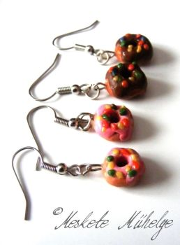 My First Donuts Earrings by automatonaliza