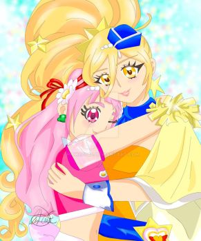 Cure Yell And Cure Etoile- Hugtto Precure by Pioko6642