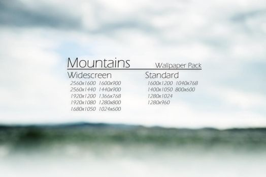 Mountains Wallpaper Pack by rovert13