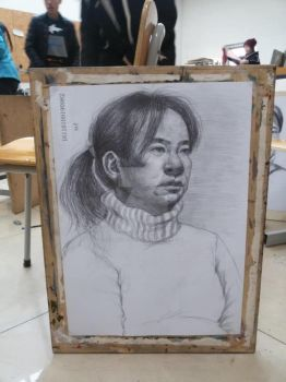 sketch3 women with white sweater by AgnesLeeChina