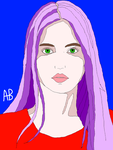 Girl with Purple Hair by anahbois