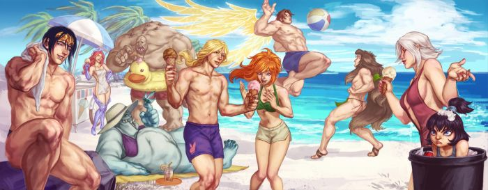 Summer at the Beach for Battlerite by Hummers