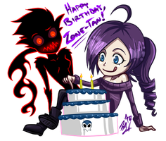 Happy Birthday Zone-tan! by AbsolutePineapple