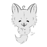 P2U Chibi Wolf Line Art {30 points} by SisAphe