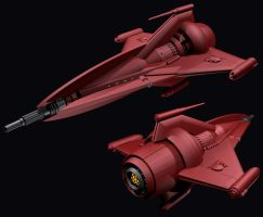 Federation Pursuit Ship WIP by Librarian-bot