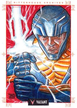 X-O MANOWAR sketchcard by JASONS21