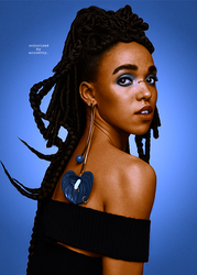 fka twigs colorization by itskatlynn