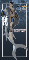 [CLOSED AUCTION SB$60] Megalodon Shark Boy by 3-X-E