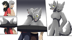 Two headed Wolf TF TG by Avianine