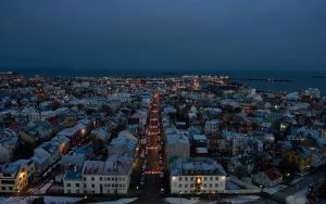 The town of Reykjavik by Choogster