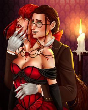 Madame Red and Grell by AnnettaSassi