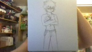 Gray From Fairy Tail (in pencil and without marker by iamanimegirl12