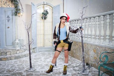 Christmas Lara Croft cosplay - festive yard by TanyaCroft