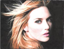 Kate Winslet Drawing by JStephenson