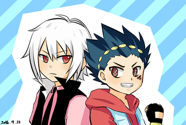 Beyblade Burst - Shu and Aoi by Kimoicchi