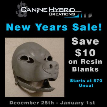Resin Blank- New Years Sale by CanineHybrid