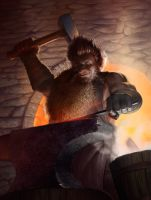 The Mad Blacksmith by JoeSlucher