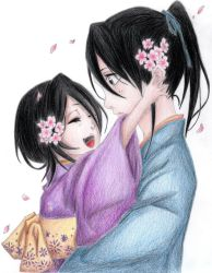Kuchiki Rukia and Kuchiki Byakuya (1) by Yashimika