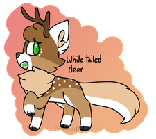 White Tailed Deer Natail Auction (CLOSED) by anqel-cake
