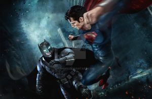 Batman vs Superman by GOXIII