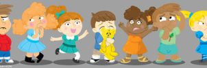 Kids lineup by MaryBellamy