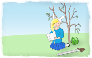Adventure Time Wallpaper - Fionna by AJsCanvas