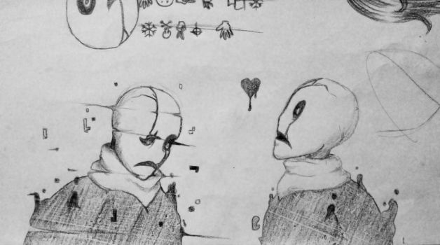 More Gaster doodles by IlithyiaEidsvag