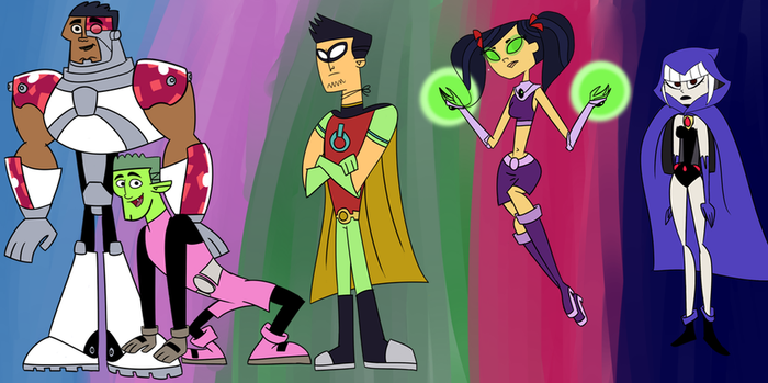 Teen Titans x Total Drama Crossover by Warachnid