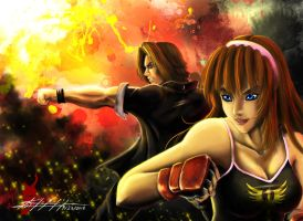 Hitomi and Ein Tag Team by Blacksky959