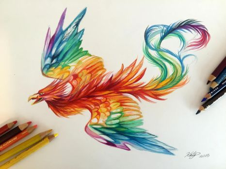 175- Rainbow Phoenix by Lucky978