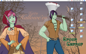 Hallowe'en Desktop by Lanisatu