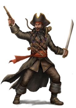 Blackbeard Pirate by HappySadCorner